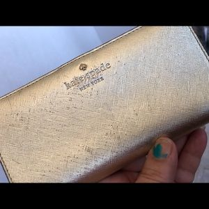 Kate spade rose gold Cameron street Stacy wallet